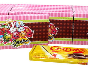 Convite Barra de Chocolate Shopkins