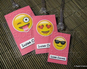 Kit 3 Bagtags - Emojis