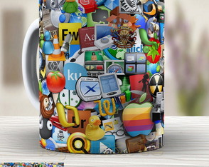 Caneca Sticker Bomb 503 - Xicara 350ml