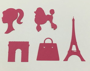 Aplique Scrapbook -Barbie Paris 100 unid