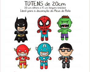 Kit Totem 20 cm - Super Heróis