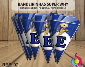 Bandeirinha SUPER WHY
