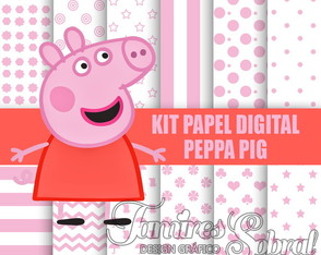 Kit papel digital Peppa Pig