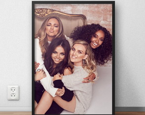 "Quadro decorativo ""Little Mix"" com moldura e vidro"