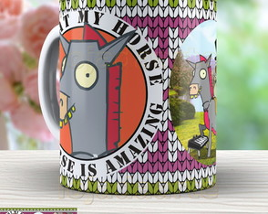 Caneca Divertida Amazing Hourse - 1341