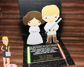 Convite Star Wars cute 3D