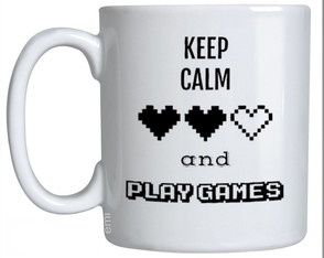 Canecas Keep Calm and play Games