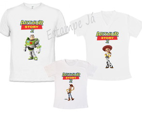 Kit 3 Camisetas Personalizadas Toy Story