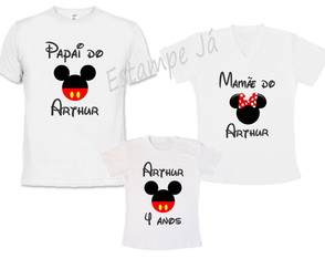 Camisetas Personalizadas do Mickey Camisetas da Minnie