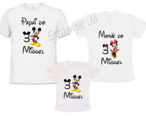 Camisetas do Mickey Camiseta da Minnie aniversário