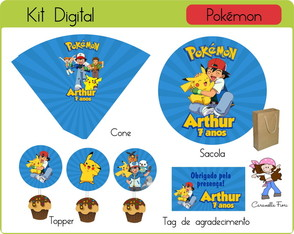 Kit festa Digital Pokemón