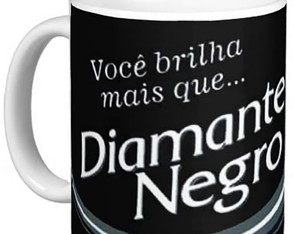 Caneca Chocolate Diamante Negro