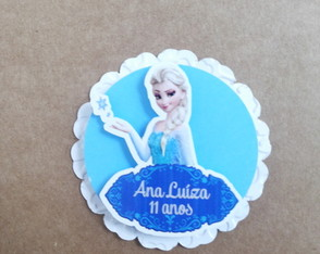 Topper Tag Frozen 3D