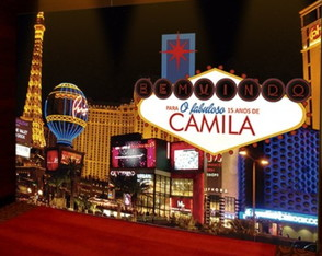 PAINEL DECORATIVO - WELCOME LAS VEGAS