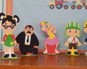 enfeites de mesa turma do chaves
