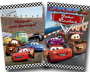 Revista colorir carros disney 14x10
