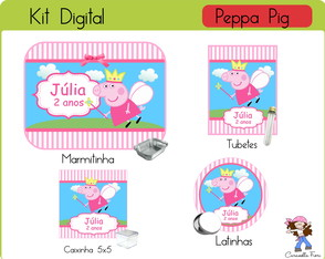 Kit festa digital Pig