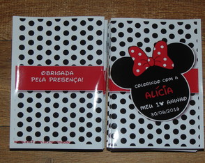 Mini Livro de Colorir Minnie 10x15