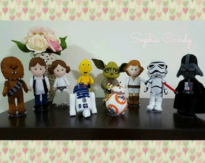 Kit com 10 personagens Star Wars