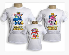 Kit de Camisetas Super Wings