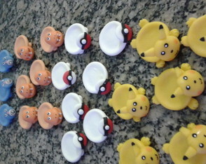 Forminhas de doce turma do Pokemon