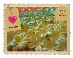 100 Flores Colors 4,5 cm Scrapbook