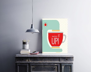 "Placa decorativa ""...Mix It Up"""