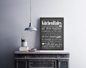 "Placa decorativa ""Kitchen Rules"""