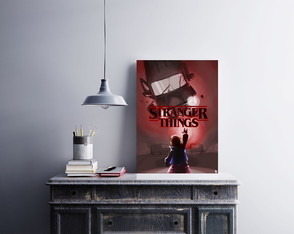 "Placa decorativa ""Stranger Things"""