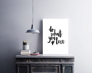 "Placa decorativa ""Do What You Love"""