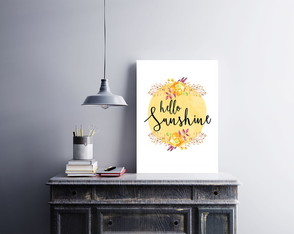 "Placa decorativa ""Hello Sunshine"""