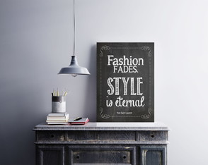 "Placa decorativa ""Fashion Fades. Style"""