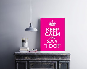 "Placa decorativa ""Keep Calm And Say I"""