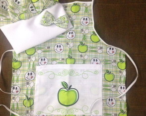 10 Kits avental Mini Chef festa infantil