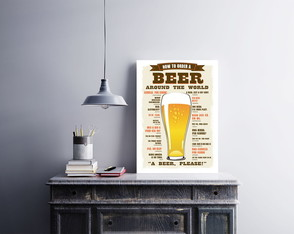 "Placa decorativa ""How To Order a Beer"""