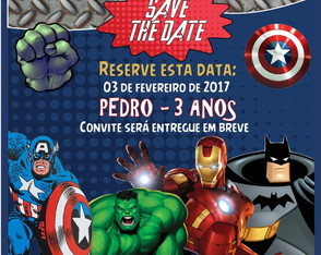 Save the date heróis