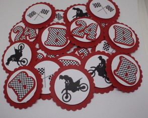 Tag 3D para latinha mint to be Festa Motocross