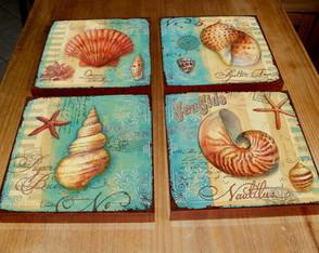 4 Quadros Tela Decorativos Praia 4