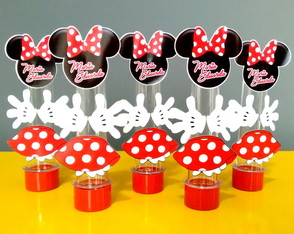 Tubete Minnie Vermelha scrap