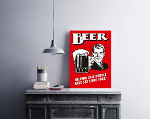 "Placa decorativa ""Beer"""