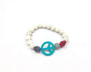 "Pulseira ""Peace and Love"""