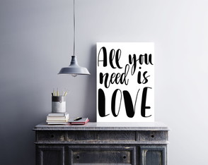 "Placa decorativa ""All You Need Is Love"""