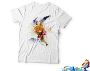 Camiseta Raposa Watercolor