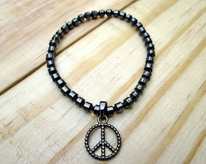 Pulseira Element Hematita Peace