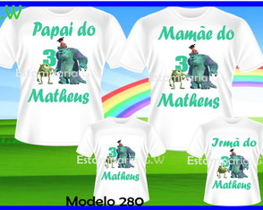 Kit Camisetas Aniversario Monstro S.A c4