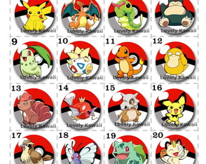 Bottons Pokemon (com 12)