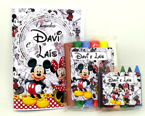 Baby Kit colorir e Modelar - Mickey e Minnie