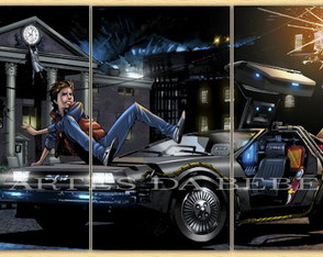 """Poster Decorativo DeLorean"""