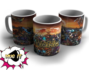 Caneca Branca League Of Legends