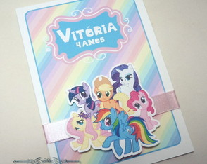 Convite Infantil Pop Up My Little Pony
